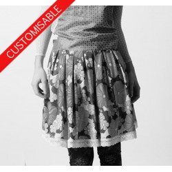 Short pleated skirt - CUSTOM HANDMADE