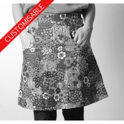 Short A-line skirt with pockets - CUSTOM HANDMADE