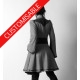 Very flared coat with small collar and flared sleeves - CUSTOM HANDMADE