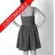 Short versatile dress with straps or short sleeves - CUSTOM HANDMADE