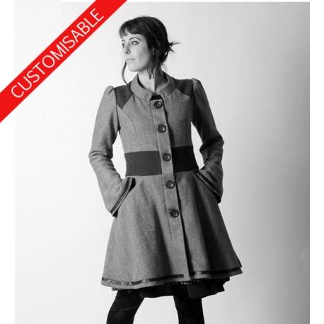 Manteau femme original très évasé hiver