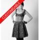 Robe évasée à empiècement corset - PERSONNALISABLE