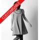 Flared dress, with assorted fabrics neckline and tiny sleeves - CUSTOM HANDMADE