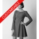 Flared dress with 3/4 or long sleeves - CUSTOM HANDMADE