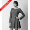 Flared dress with 3/4 or long sleeves - CUSTOM HANDMADE
