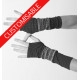 Long stretchy fingerless gloves - CUSTOM HANDMADE