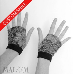 Fingerless gauntlets - CUSTOM HANDMADE