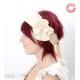 Bandeau beige jeune créateur, coiffure de mariée boutique en ligne