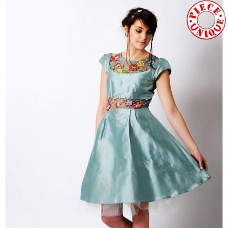 Unique blue designer wedding dress