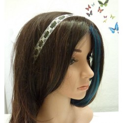 Womens lace headband in white