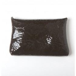 Porte-carte ou porte-monnaie en cuir marron foncé vernis