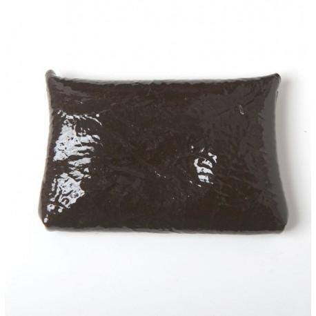 Porte-carte ou porte-monnaie en cuir marron foncé vernis idée cadeau