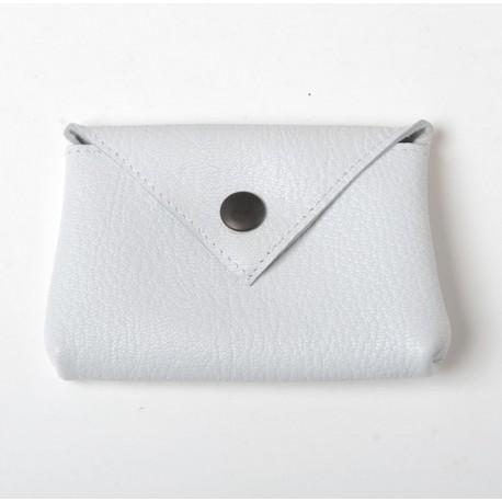 Porte-carte ou porte-monnaie en cuir blanc jeune créatrice fancaise
