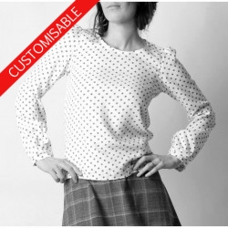 Supple womens blouse with long sleeves - CUSTOM HANDMADE