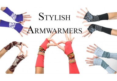 Fun armwarmers and cuffs, Designer clothing, Handmade in France